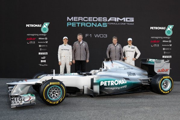 the new mercedes amg petronas f1 w03 1 597x397 Mercedes AMG F1 Team Takes On New Partner