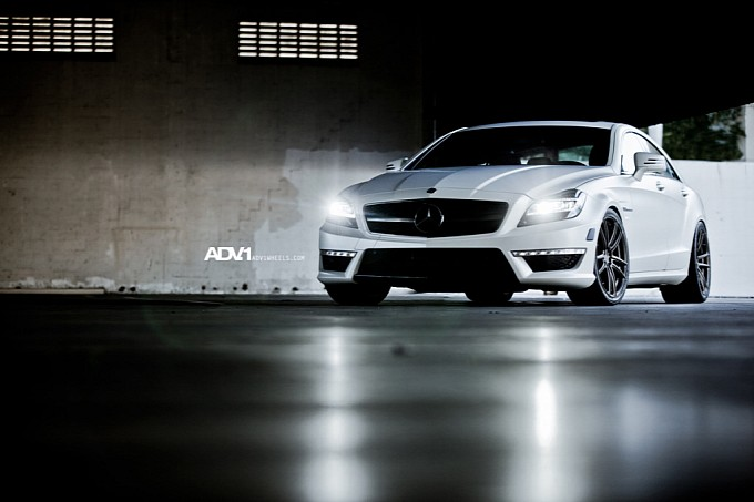 ADV1 Wheels on the Mercedes CLS63 AMG7