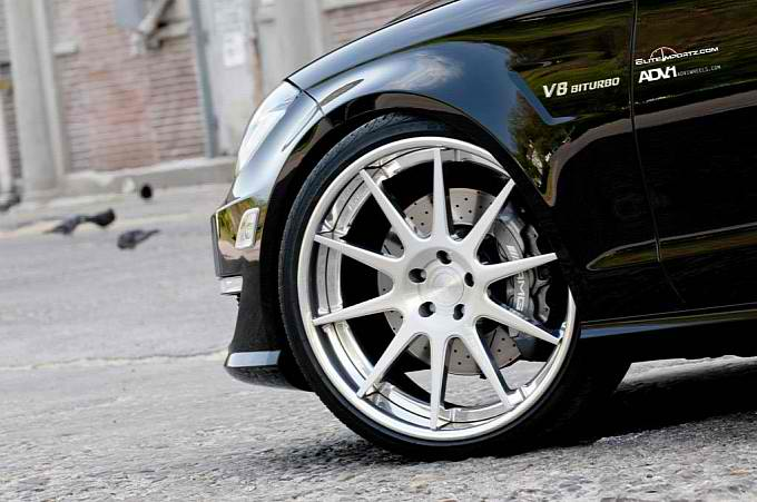 ADV10 Deep Concave Wheels on the Mercedes CLS63 AMG2