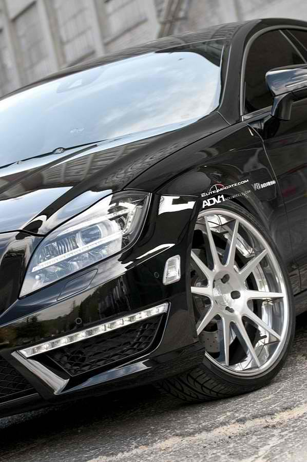 ADV10 Deep Concave Wheels On The Mercedes CLS63 AMG8