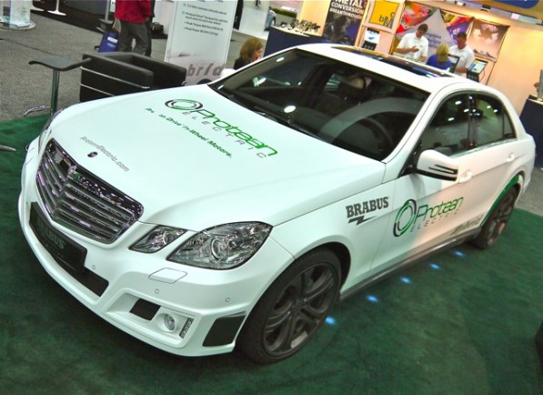 "proteanbrabus001 597x434 Protean Electric and Brabus Showcase ""Technology Project Hybrid"" at World Congress"