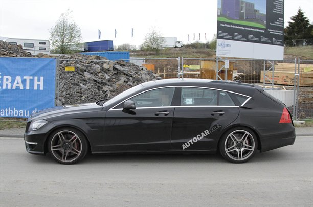 2013 CLS 63 AMG Shooting Brake spy shots