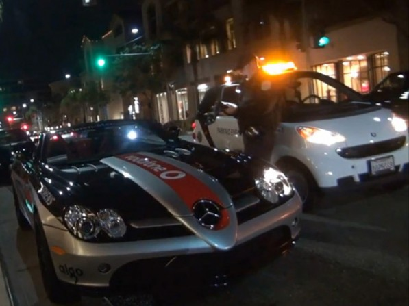 179749 597x447 Video: SLR McLaren is a sitting duck