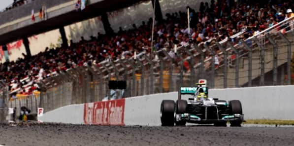 2012 SpanishGP race 597x296 Rosberg Says Title Still Possible