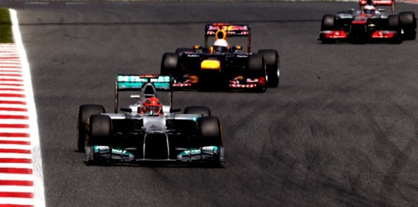 2012 SpanishGP race2 597x296 Rosberg Seventh, Schumacher DNF in Barcelona