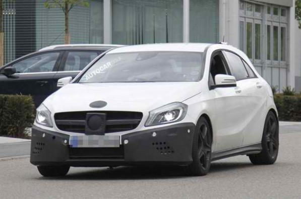 a25amg spyshots 001 597x395 New Mercedes Benz A25 AMG Spy Shots