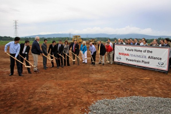 daimlernissan tennessee plant 597x397 Groundbreaking for Mercedes Benz/Infiniti Tennessee Plant