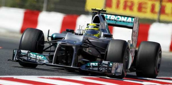 f1 qualifying spanishgp 597x296 Rosberg P7, Schumacher P9 after Barcelona Qualifying