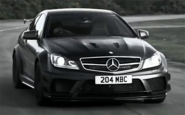 mercedes benz shows off the dark side of the c63 amg black serie 597x373 Video: C63 AMG Black Series says lets dance