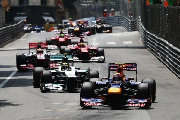 monaco GP 2012 597x398 Rosberg Bags Second, Schumacher Gets a DNF