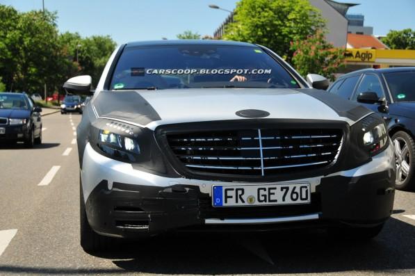 2014 S Class spyshots 001 597x397 Spy Shots: 2014 Mercedes Benz S Class