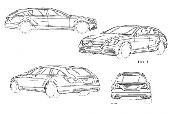 CLS ShootingBrake 597x395 CLS Shooting Brake Patent Pics Surface