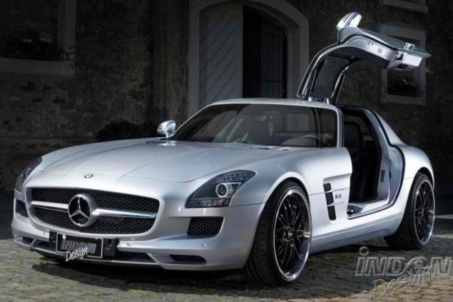 Katja Runiello on a Mercedes SLS AMG by Inden Design6