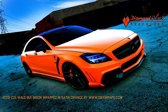 Orange Mercedes CLS550 Black Bison by DBX13