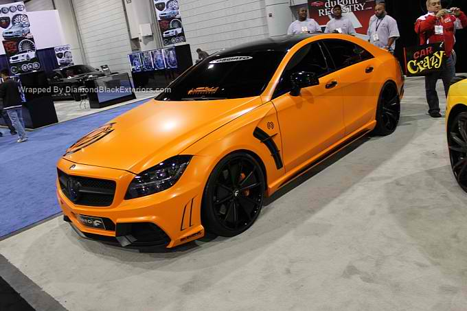 Orange mercedes cls550 black bison by dbx benzinsider for Mercedes benz orange