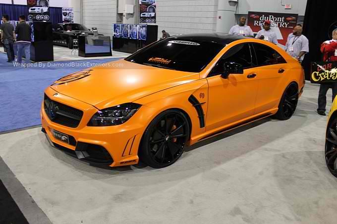 Orange Mercedes CLS550 Black Bison by DBX - BenzInsider ...