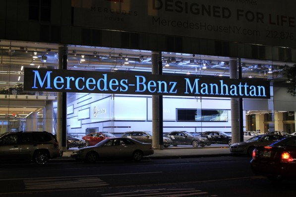 mercedes benz manhattan celebrates anniversary