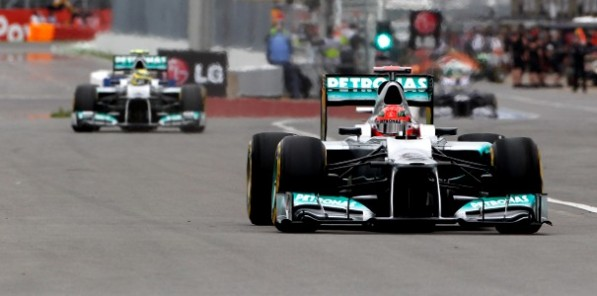 mercedesf1 canadiangp 597x296 Rosberg Starts 5th, Schumacher 9th for Canadian GP
