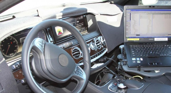 2014 S Class SpyShot Interior 597x327 2014 S Class Interior and Exterior Spy Shots