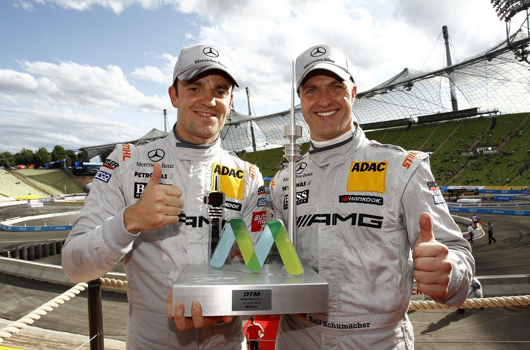 DTM Green Schumacher relay Mercedes Drivers Shine in Midseason DTM Events
