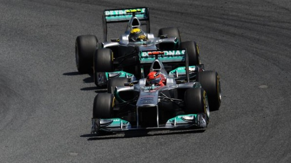schumiros 597x335 F1: Select Mercedes AMG Petronas Quotes for Silverstone