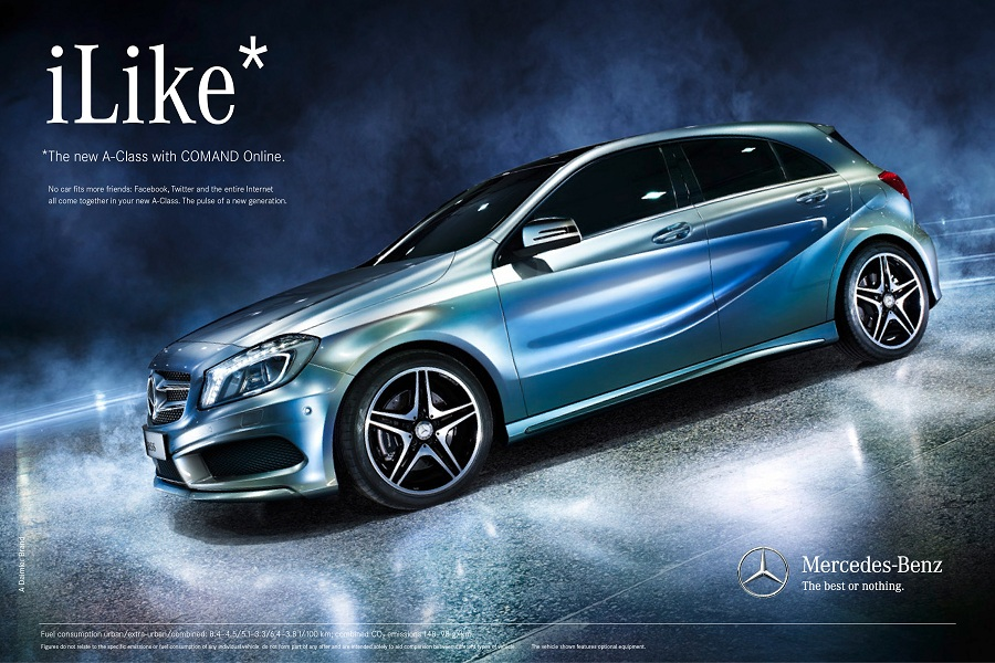 mercedes benz launches ad campaign for new a class