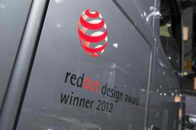 Actros won the red dot award
