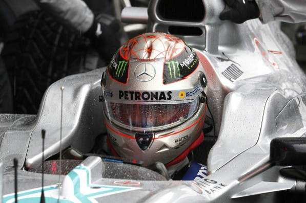 12F1GP Spa1475 597x397 Schumacher Finishes 7th in Belgian GP