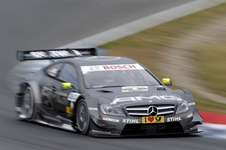 DTM Oschersleben Mercedes Benz C Coupe Gary Paffett 724x482 DTM 2012: Paffett, Green with Podium Finish in Oschersleben