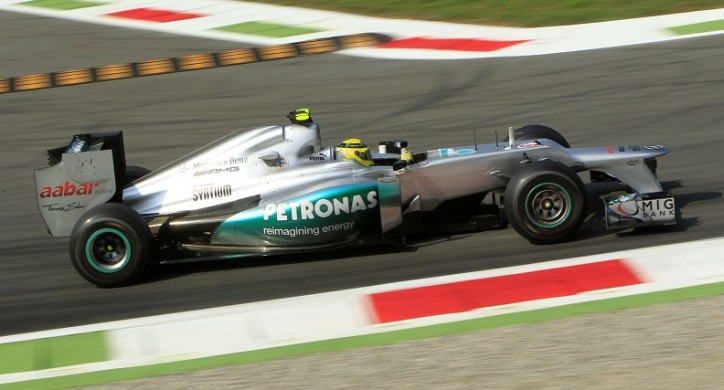 Italian GP Mercedes1 724x390 F1: Schumacher 4th, Rosberg 6th on Italian GP Grid