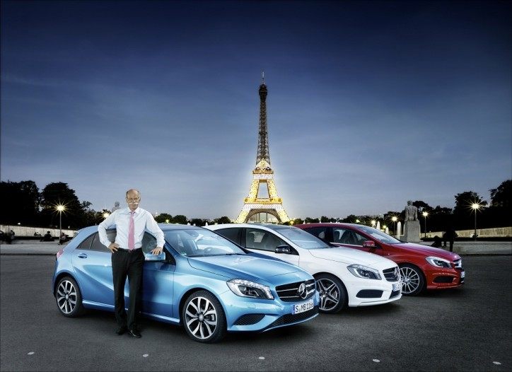 Mercedes Benz A Class France 724x526 Mercedes Benz Introduces New A Class to Record Crowd in France