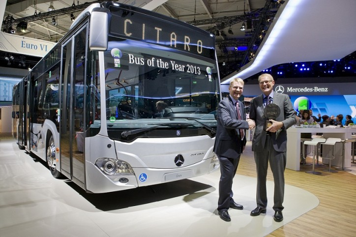 "Mercedes Benz Citaro Wins Bus of the Year 2013 724x482 Mercedes Benz Citaro Euro VI Takes ""Bus of the Year 2013"" Award"
