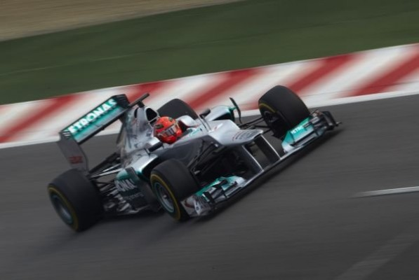schumacher 597x400 F1 Tickets, Schumi Meet and Greet Up for Grabs for Mercedes Benz Buyers in India