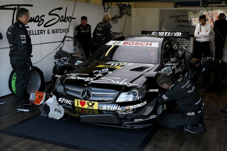 2012 DTM Gary Paffett Mercedes Benz 724x482 Mercedes All Set for Climactic Battle at 2012 DTM Finale