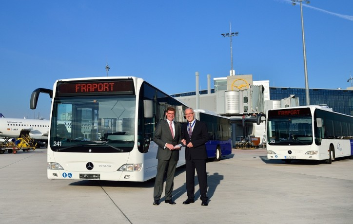 Mercedes Benz Citaro Buses for Frankfurt Airport 724x460 28 Mercedes Benz Citaro Shuttle Buses Start Service at Frankfurt Airport