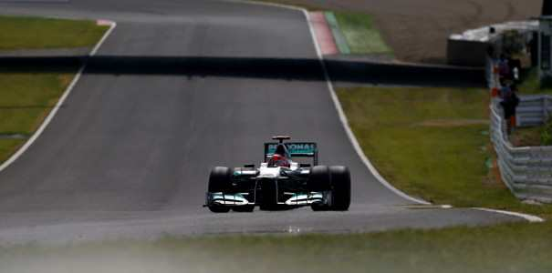 Michael Schumacher Mercedes AMG Petronas Japanese Grand Prix F1: Schumacher 11th at Japanese Grand Prix