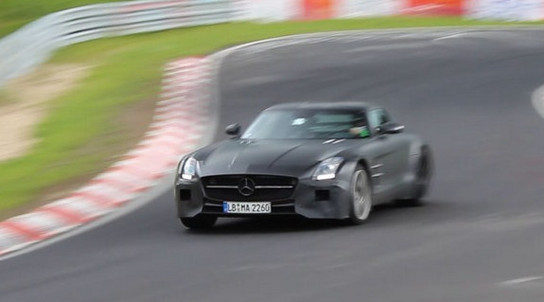 SLS Black Ring SLS Black Series Prototype Incinerates Itself