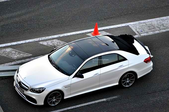 2014 Mercedes Benz E Class Spy Shot Probable 2014 Mercedes Benz E Class Spotted in Madrid