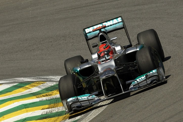 F1 Brazilian Grand Prix Michael Schumacher Mercedes AMG Petronas 724x482 F1: Rosberg P9, Schumi P13 as Hamilton Gets Pole in Brazilian GP
