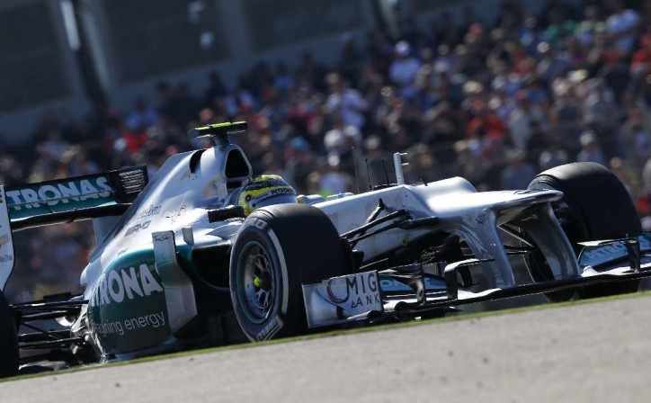 F1 Mercedes AMG Petronas Nico Rosberg US Grand Prix 724x448 F1: Mercedes Fails to Score in United States GP