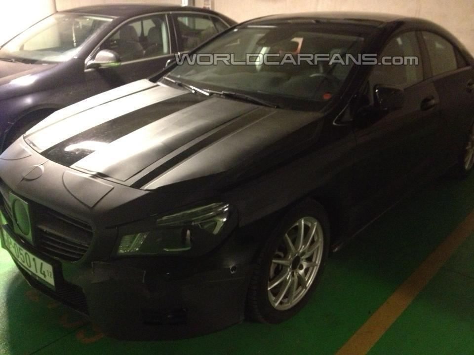 1 Images Of A Mercedes Benz CLA Prototype Emerge