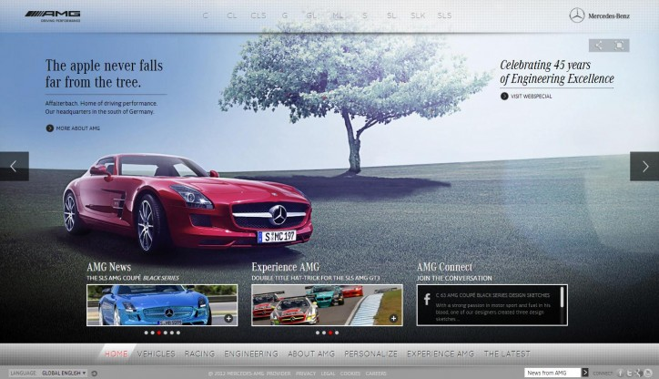 AMG website 724x416 New Vehicle Configurator and AMG Website Redesign to Start in Mercedes Benzs 2013