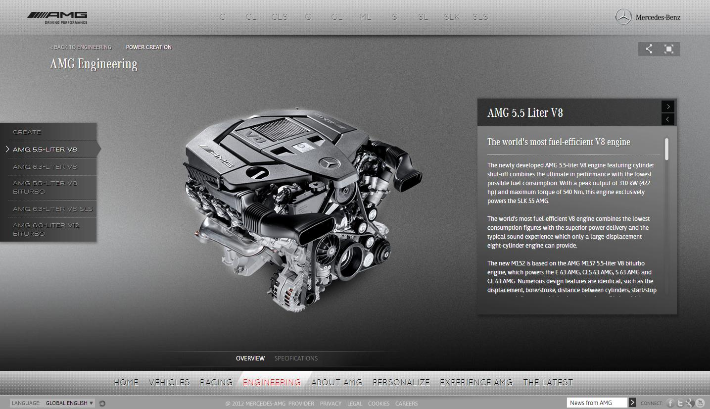 New vehicle configurator and amg website redesign to start for Mercedes benz website