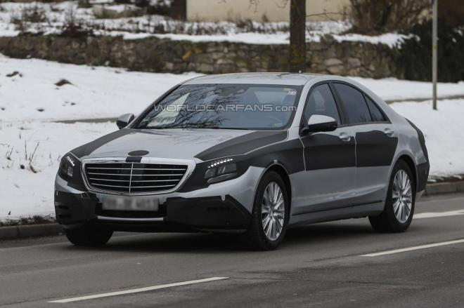 10955746591815108760 Another Spyshot of the New Mercedes Benz S Class Revealed