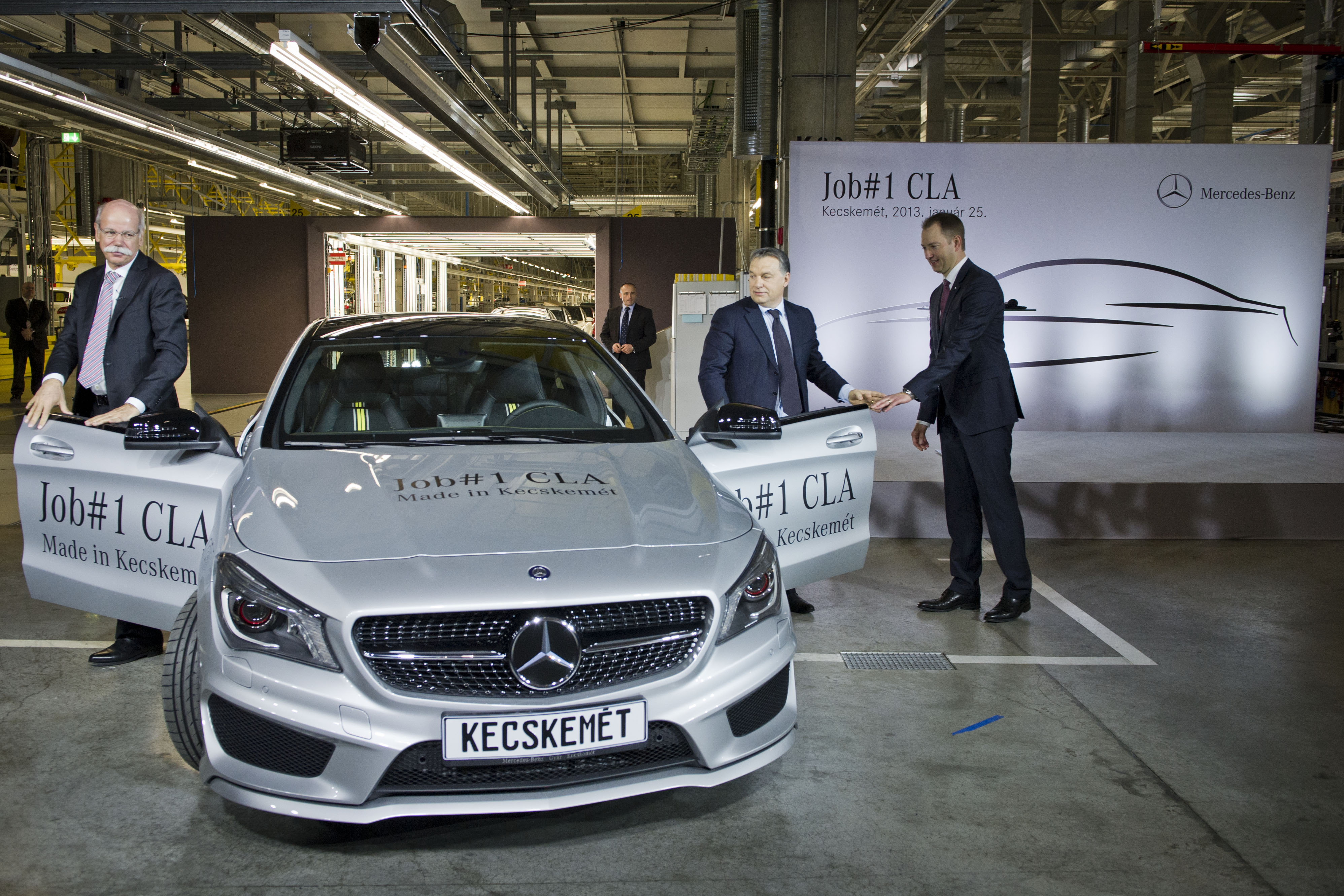 Mercedes Benz CLA Kecskemét Plant Rolls Out Its First Mercedes Benz CLA