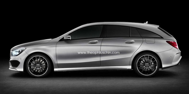 Mercedes Benz CLA Shooting Brake Artist Rendering 001 724x362 Artists Rendering of the Mercedes Benz CLA Shooting Brake