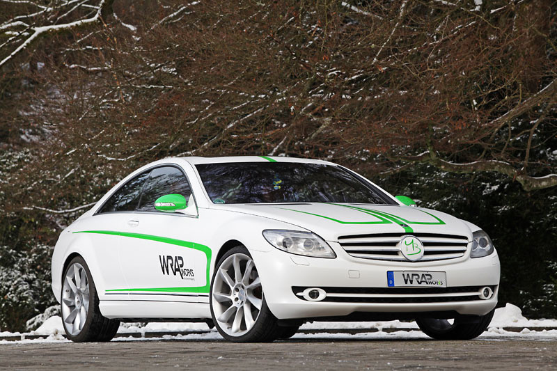 WRAPworks Mercedes CL 1 Wrap Works Gave Mercedes Benz CL500 a Nice Tuning Treatment