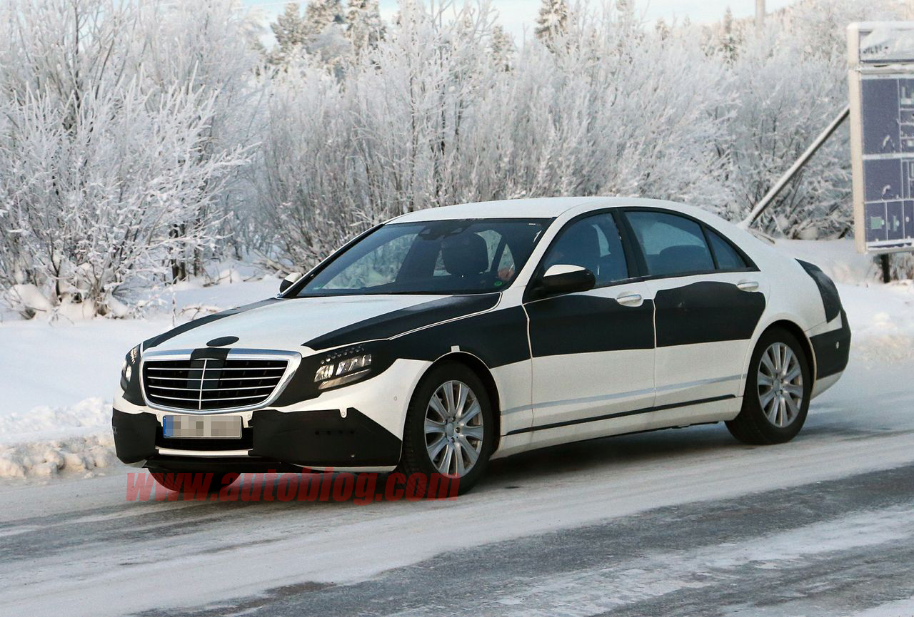 001 mercedes s class spy shots New Mercedes Benz S Class Striptease Continues