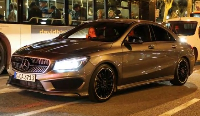 Mercedes C Class Coupe >> Video Shows The Mercedes-Benz CLA 180 In Barcelona ...
