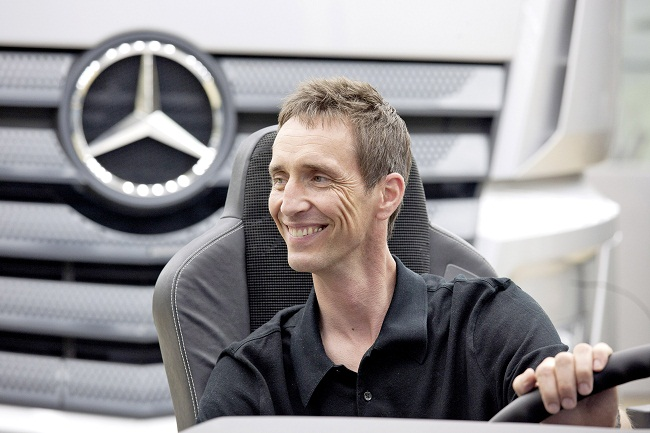 Kai Sieber, Head of Design Mercedes-Benz Vans & Trucks in front of the New Mercedes-Benz Actros